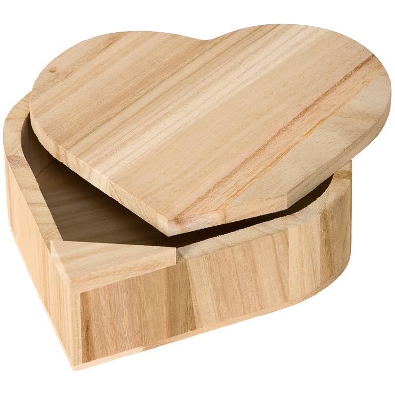 boite en bois coeur avec couvercle pivotant boite en bois d corer creavea. Black Bedroom Furniture Sets. Home Design Ideas