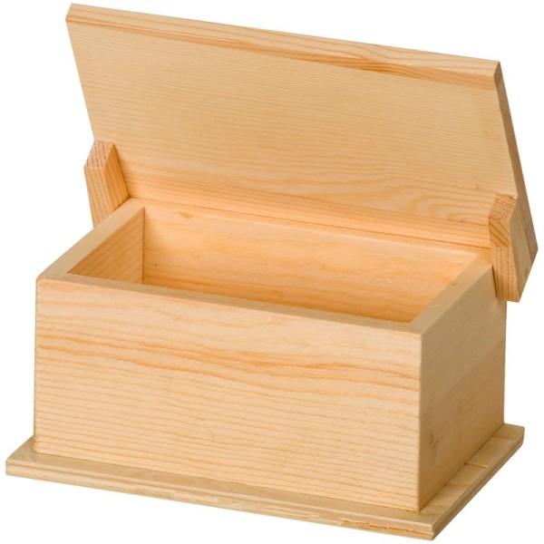 Boite en bois Rectangle 15 x 9 x 7,5 cm - Photo n°1