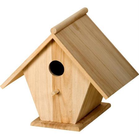 Nichoir en bois 22 5 cm nichoir d corer creavea - Nichoir en bois a decorer ...