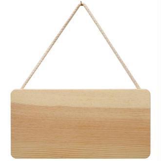 Plaque en bois à suspendre 21 x 11 cm
