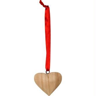 Coeur en bois à suspendre 5,5 cm