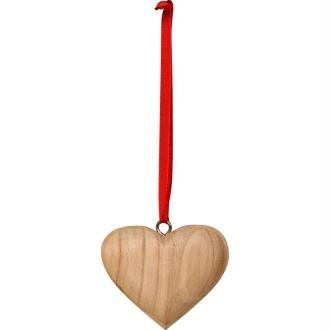 Coeur en bois à suspendre 7,7 cm
