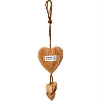 Coeurs en bois à suspendre
