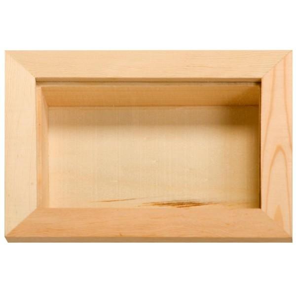 Vitrine en bois 12 x 16 cm - Photo n°1