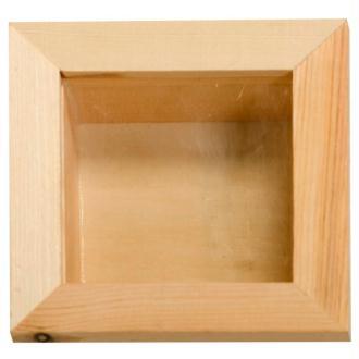 Vitrine en bois 15 x 15 cm
