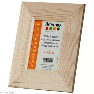 Cadre photo en bois - format photo 9 x 13 cm