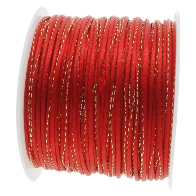 Queue de rat 2 mm rouge fil dor sur mesure cordon for Acheter miroir sur mesure