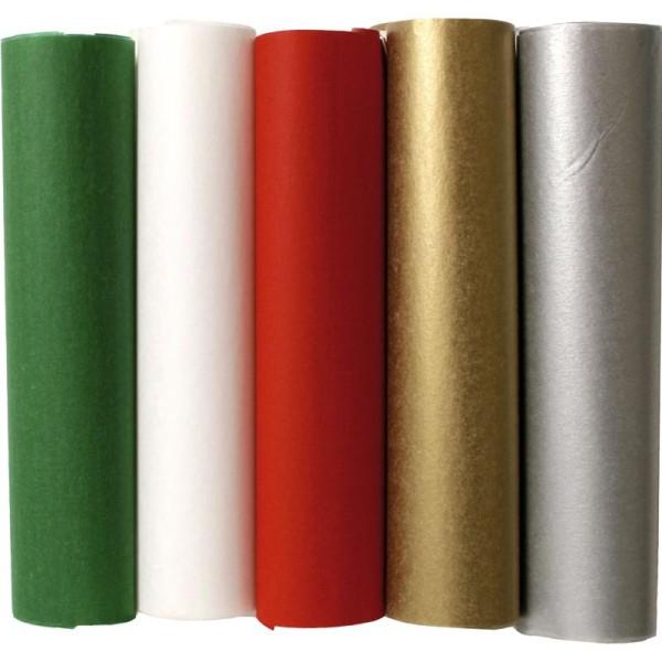 Papier de soie assortiment Noël 16 x16 cm - 1000 feuilles - Photo n°1
