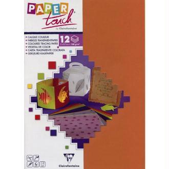 Papier calque couleur Paper Touch A4 Abricot x 12 feuilles