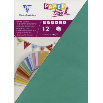 Papier calque couleur Paper Touch A4 Vert émeraude x 12 feuilles
