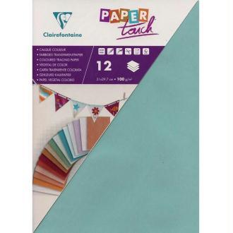 Papier calque couleur Paper Touch A4 Bleu pâle x 12 feuilles