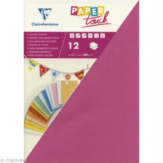 Papier calque couleur Paper Touch A4 Lilas x 12 feuilles