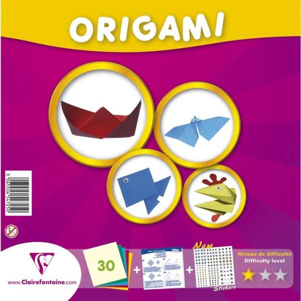 Papier origami Kit Initiation 20 x 20 cm -30 feuilles - Photo n°1