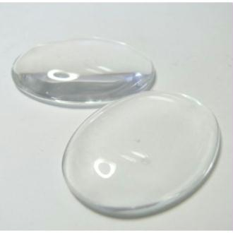 2 Pieces cabochon en verre 20*30mm