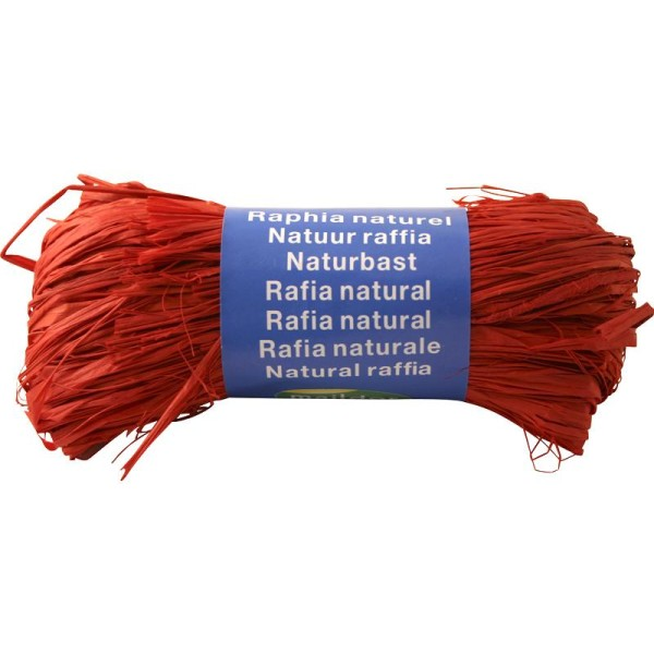 Raphia naturel Rouge 50 g - Photo n°1