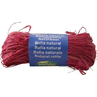 Raphia naturel Rose 50 g