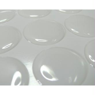 5 Cabochons 20mm sticker autocollant epoxy transparent