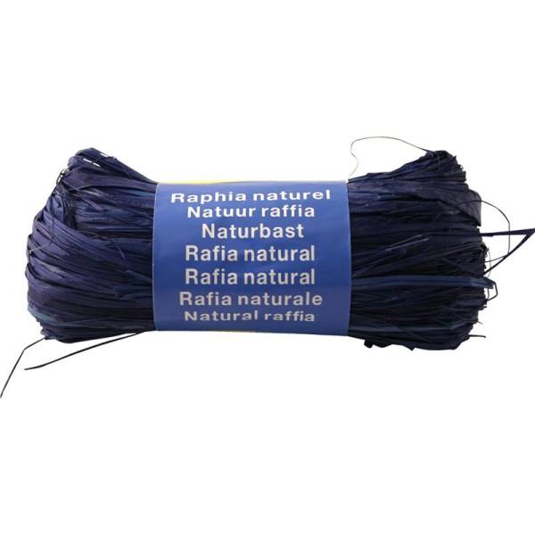 Raphia naturel Bleu France 50 g - Photo n°1