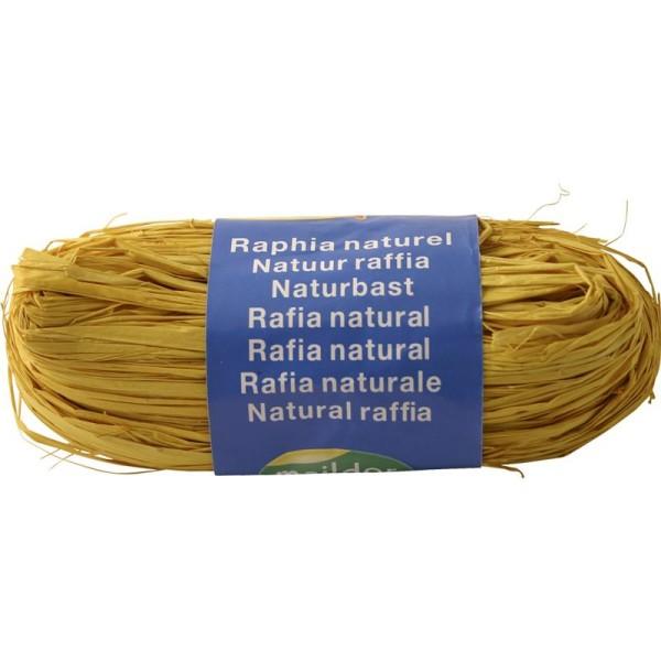 Raphia naturel Jaune citron 50 g - Photo n°1