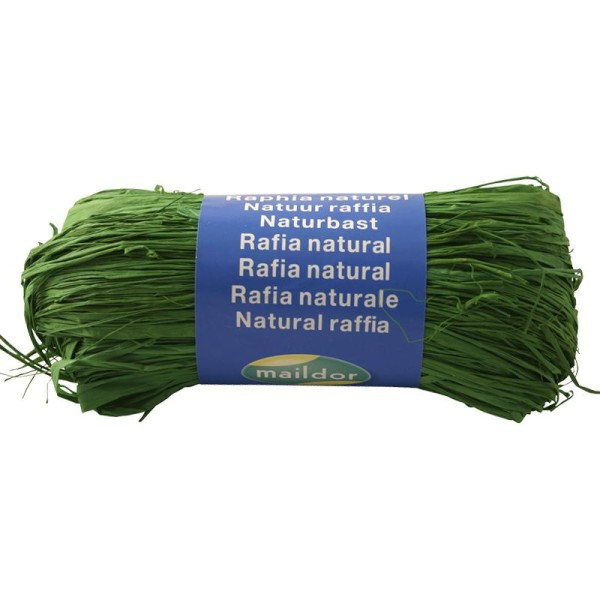Raphia naturel Vert empire 50 g - Photo n°1