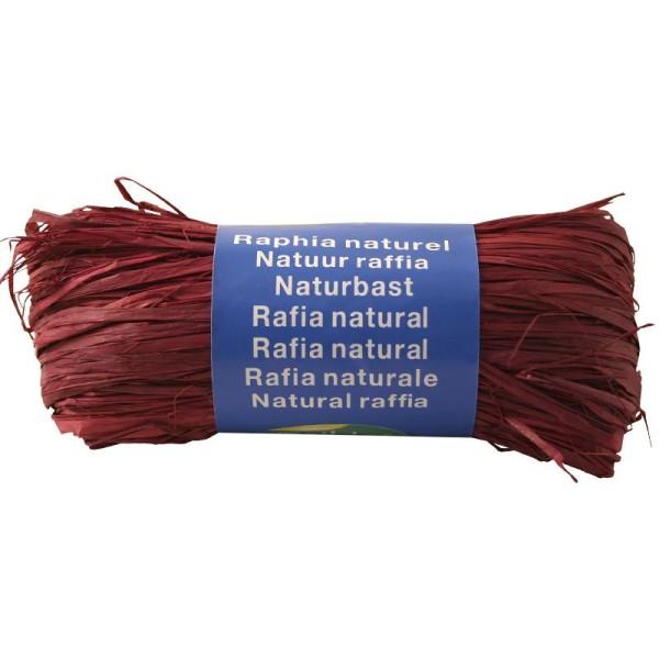 Raphia naturel Prune 50 g - Photo n°1