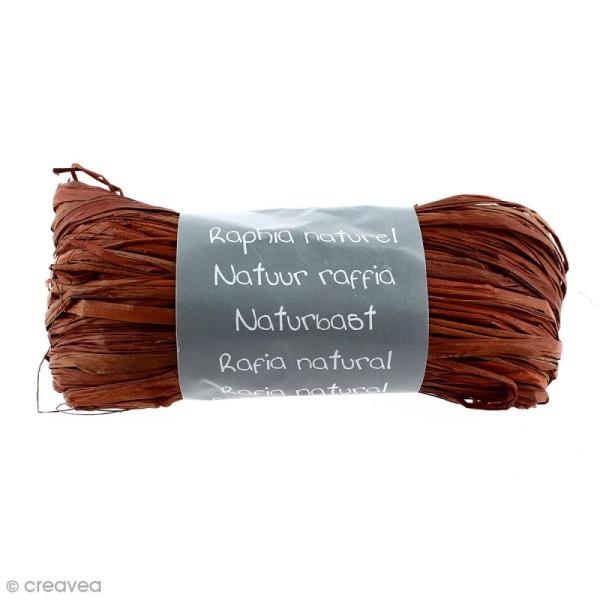 Raphia naturel Chocolat 50 g - Photo n°1