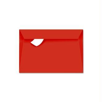 Enveloppe Pollen 90 x 140 mm Rouge corail x 20