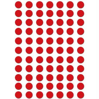 Gommettes rondes 8 mm Rouge x 462