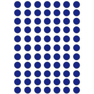 Gommettes rondes 8 mm Bleu foncé x 462