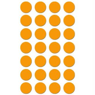 Gommettes rondes 15 mm Orange x 168