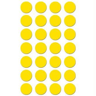 Gommettes rondes 15 mm Jaune x 168
