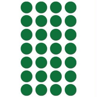 Gommettes rondes 15 mm Vert x 168