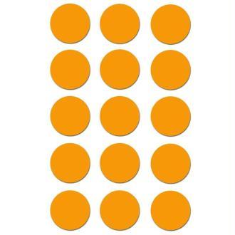 Gommettes rondes 19 mm Orange x 90