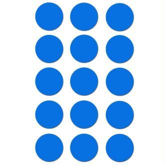 Gommettes rondes 19 mm Bleu ciel x 90