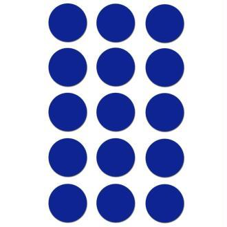 Gommettes rondes 19 mm Bleu foncé x 90