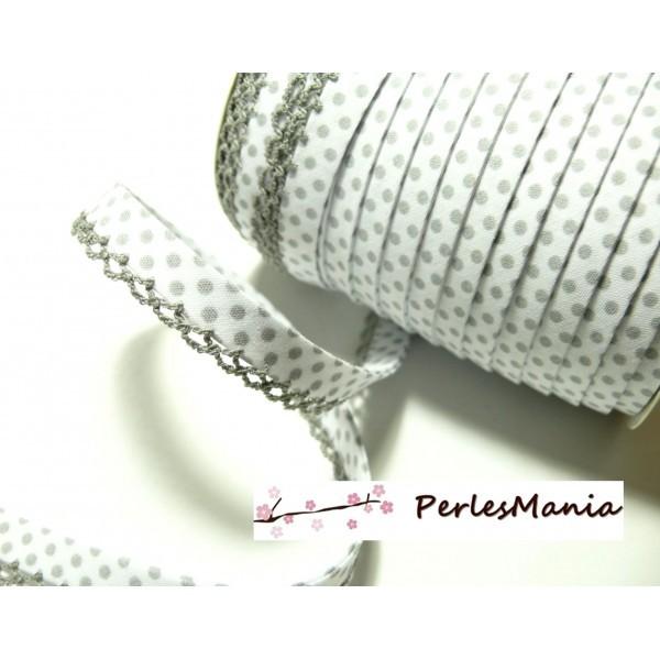 biais vintage ruban bordure blanc 5 mètres sur 1,5  cm