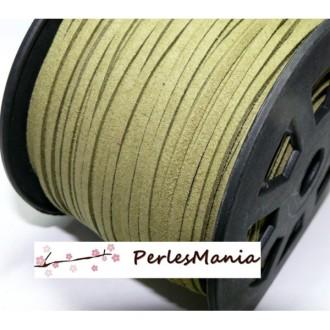 10M de cordon en suédine aspect daim KAKI CLAIR PG013 qualité
