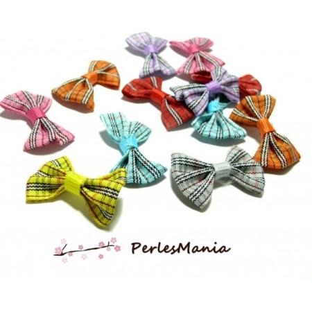 Lot de 20 NOEUDS multicolores SO BRITISH H64M11 pour création de bijoux - Perlesmania