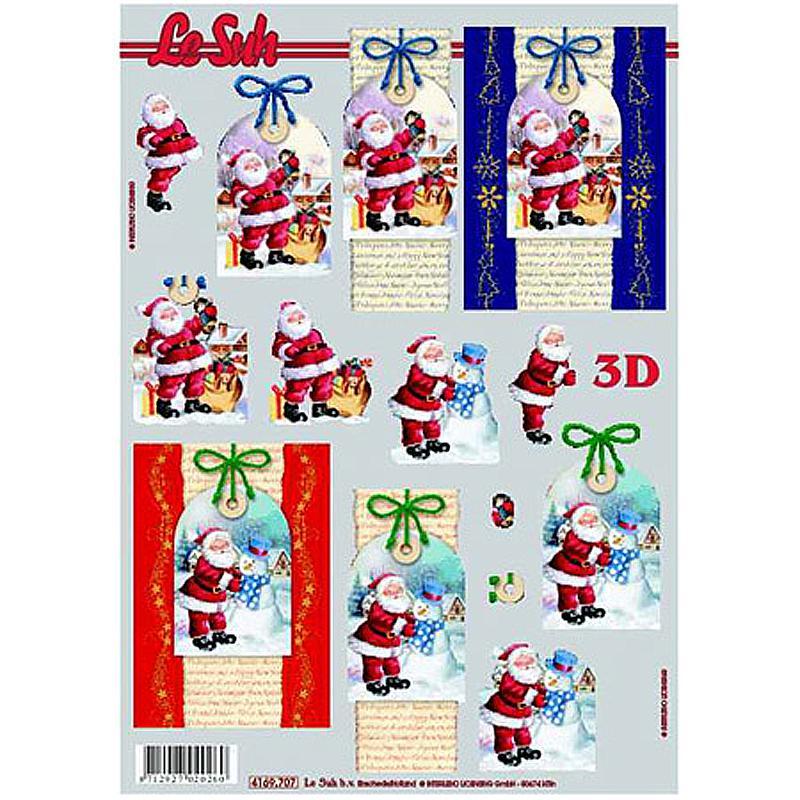 Carte 3D - Voeux du père Noël 21 x 29,7 cm - Photo n°1