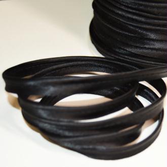 Passepoil satin noir, de belle qualité - vendu au mètre - monpatroncouture