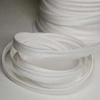 Passepoil satin blanc, de belle qualité - vendu au mètre - monpatroncouture