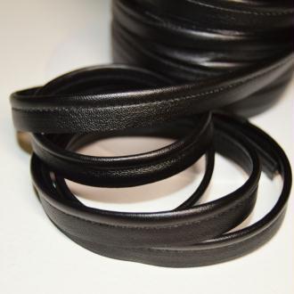Passepoil en simili cuir noir souple, de belle qualité - vendu au mètre - monpatroncouture
