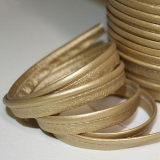 Passepoil en simili cuir doré souple, de belle qualité - vendu au mètre - monpatroncouture
