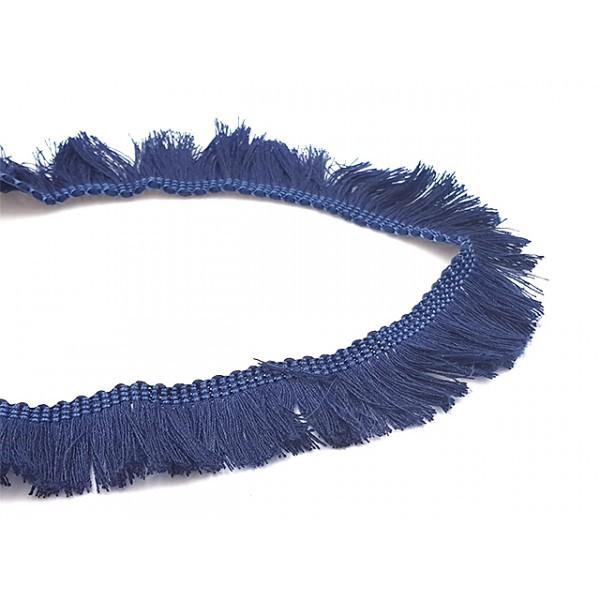 1m Galon à Franges 25mm Couleur Bleu Foncé - Photo n°1