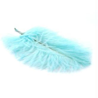 Plume d'autruche ± 15-20 cm turquoise