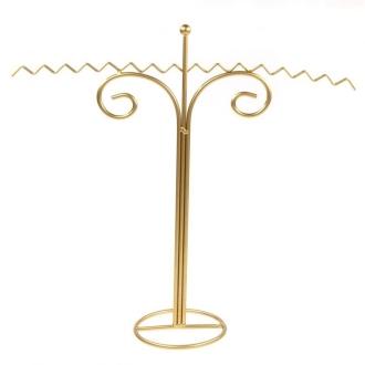Porte bijoux présentoir porte bijoux pour colliers zigzag Doré