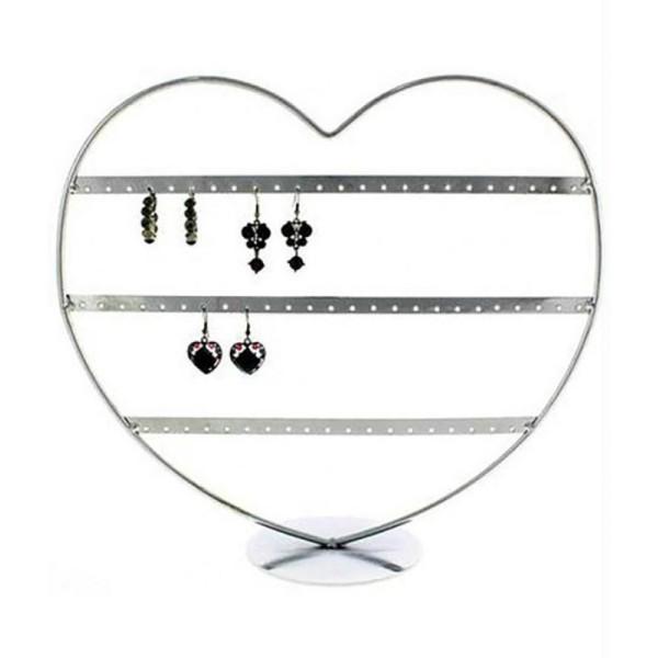 Porte bijoux boucle d'oreille coeur (34 paires) - Photo n°1