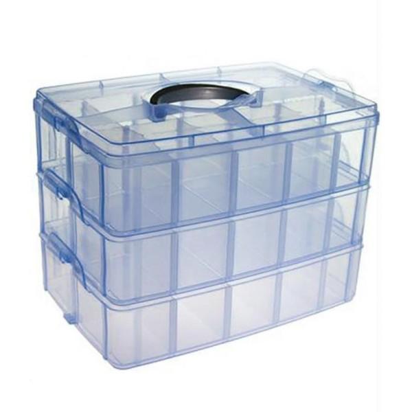 Coffrets et boites boite de rangement plastique bijoux apprêts 30 compartimentsOrange - Photo n°2