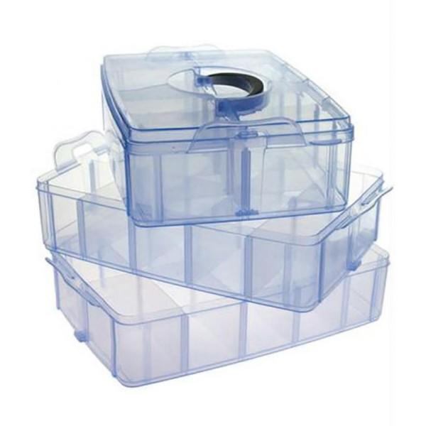 Coffrets et boites boite de rangement plastique bijoux apprêts 30 compartimentsOrange - Photo n°3