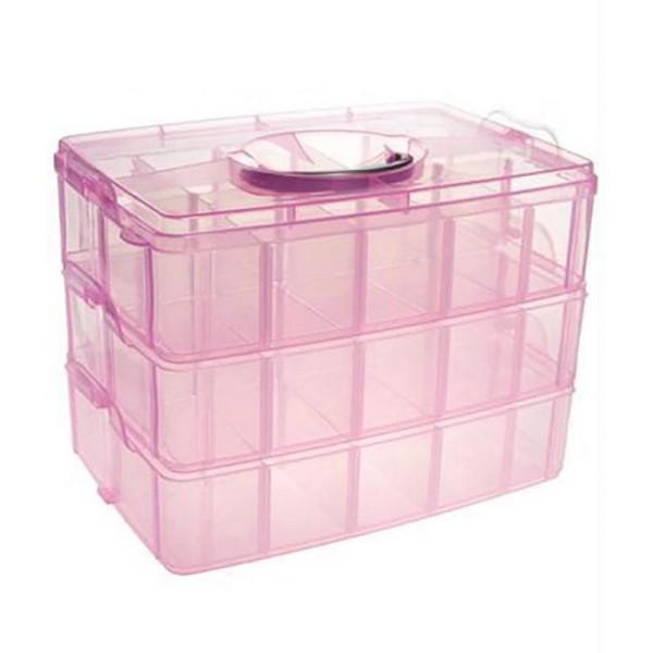 Coffrets et boites boite de rangement plastique bijoux apprêts 30 compartimentsOrange - Photo n°1